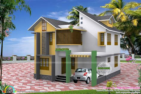 5 Cent Home Designs : Three Bedroom Small Home In 4.5 Cents