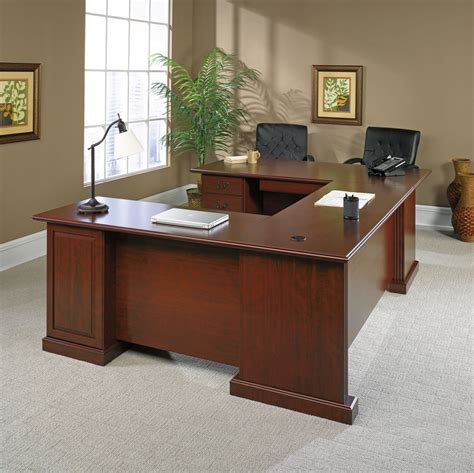 sauder heritage hill outlet executive u shaped desk 72 quot wide x 108 quot x 30 quot high classic