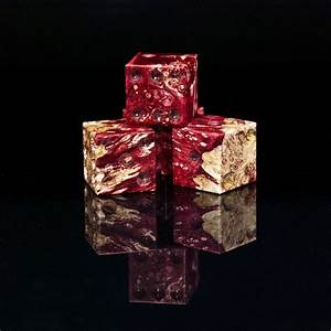 Box Elder Burl (Dyed Wine) | Artisan Dice
