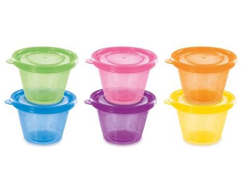 set de 6 petits pots avec couvercles remond