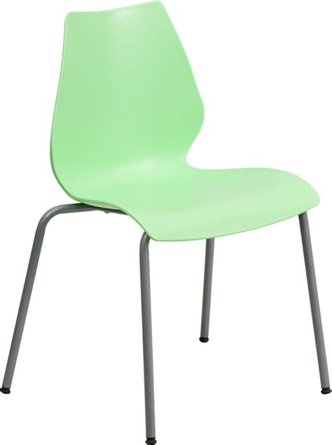 hercules commercial grade green plastic stacking chair w
