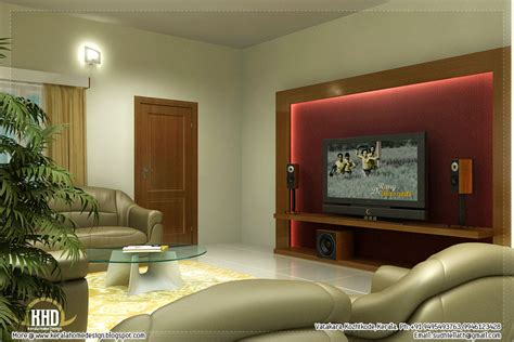 Beautiful Living Room Rendering-kerala Home Design And