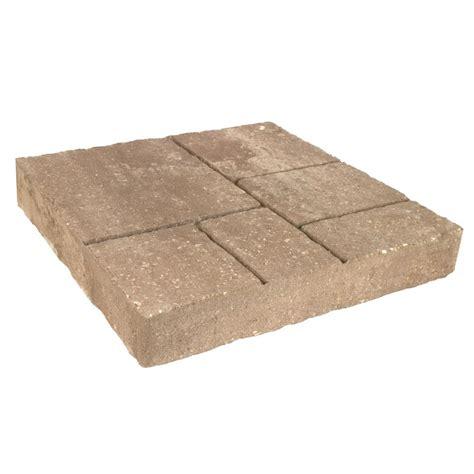 oldcastle avellino 16 in x 16 in amaretto concrete paver 12100096 the home depot