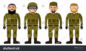 Soldiers Squad. Set Of Military Men Vector Characters ...