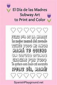 Mother's Day Printable Spanish Subway Art to Color ...