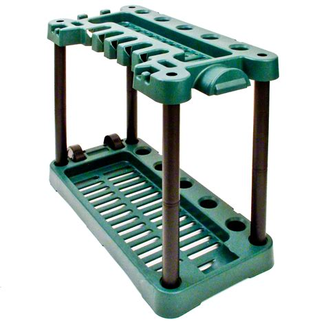 garden tool storage rack holder on wheels shed gardening
