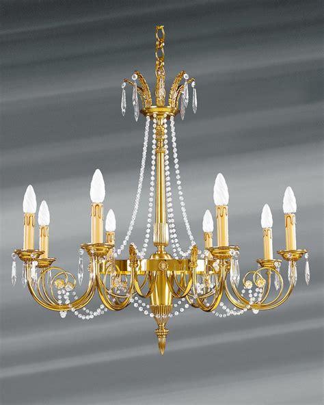 lustre louis xvi dor 233 cristal de boh 232 me en perles huit lumi 232 res lucien gau luminaires