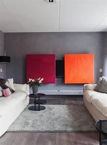 Fernseher Verstecken Möbel : de televisie in het interieur fernseher hinter schiebe bildern verstecken tolle farben ~ Markanthonyermac.com Haus und Dekorationen
