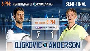 Same City, Different Stage: Djokovic, Anderson Set To ...