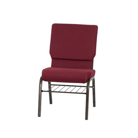 hercules series 18 5 w church chair in burgundy fabric with book rack gold vein frame xu ch