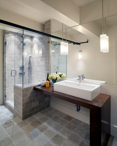 contemporary bathroom pedant lighting ideas for small