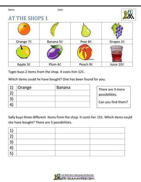 First Grade Math Problems