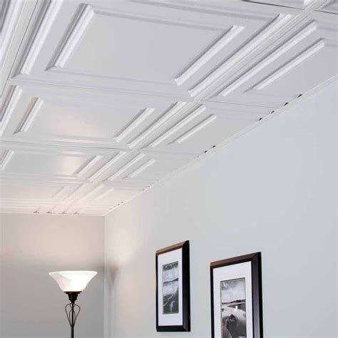 Drop Ceiling Tiles 2x2 White by Genesis Ceiling Tile 2x2 Icon Relief Tile In White
