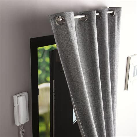 tringle 224 rideau de porte ib pour rideaux 224 œillets d 20 mm l 100 cm chrom 233 leroy merlin