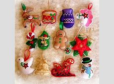 Felt Ornaments SewintheHoop Machine Embroidery Designs