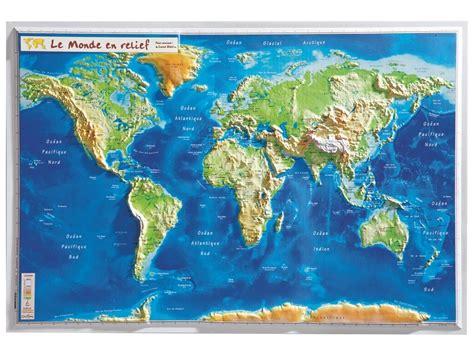 carte murale en relief monde wesco pro