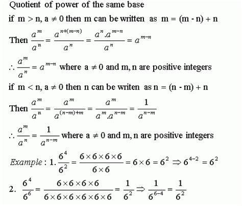 Laws Of Exponents  Iv  Grade 7  Mathematics  Kwiznet Mathscienceenglish Homeschool