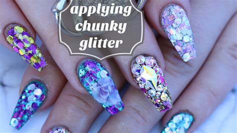 How To Work With Chunky Glitter