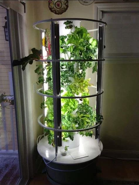 Indoor Tower Garden With Grow Lights We Took This Idea