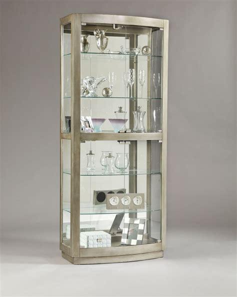 pulaski platinum glass door curio cabinet 21396
