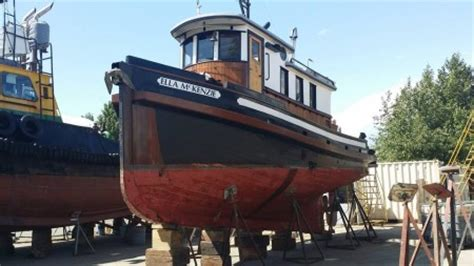 Old Wooden Tug Boats For Sale by Ella Mckenzie 36 Converted Wooden Tug Boat Full