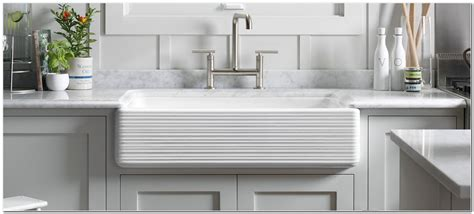 Apron Front Kitchen Sink White-sink And Faucet
