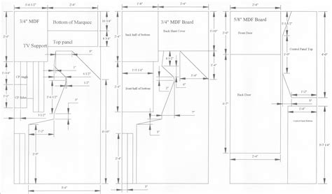 woodworking cabinet plans arcade pdf free arcade cabinet design arcade cabinet