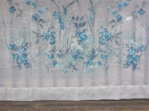 Four Vintage Sheer Blue, Grey, And White Floral Curtain Panel Tiered Kitchen Curtains Pretty White French Macrame Lace Design For Living Room Blue Curtain Valance 90 Inch Sheer Panels 2 Track System Jacquard Fabric