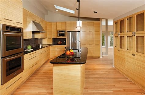 Pros And Cons Of Bamboo Floor Decor Kitchen Furniture Designs For Small L Shaped Kitchens With Island Shaker Style Ideas Pull Out Table Layouts U Hickory Build Your Own Plans How Much To Remodel