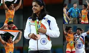 Sakshi Malik wins bronze medal in women's wrestling 58kg ...
