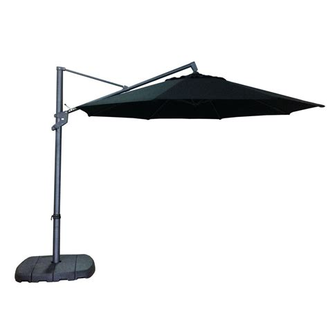 allen roth 11 ft offset black octagon umbrella with tilt and crank lowe s canada