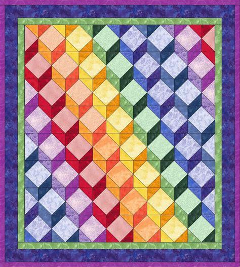 Tumbling Block Quilt Pattern Template by Pieced Blocks Tumbling Blocks