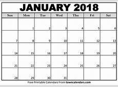 Printable January 2018 Calendar Qualads
