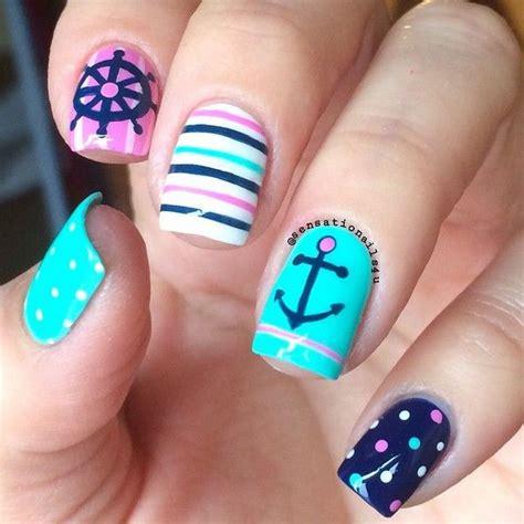 Boat Anchor Nail Art by 50 Cool Anchor Nail Art Designs Noted List