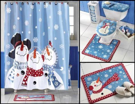 Frosty Friends Snowman Shower Curtain-bath Rug-toilet