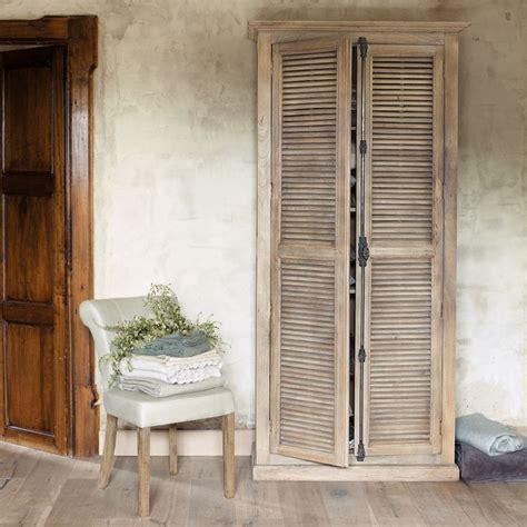 armoire en manguier l 100 cm persiennes boudoir et armoires