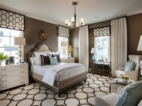 Transitional Style Bedroom In Brown With Blue A Bold
