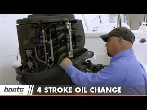 Yamaha Boat Motor Oil Change by How To Change Engine Oil On Four Stroke Outboard Youtube
