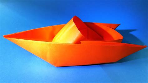 Origami Boat Video by How To Make A Paper Boat That Floats Origami Boat Youtube
