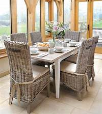 wicker dining room chairs Dining Room: inspiring rattan dining room sets Rattan ...