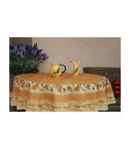 nappe anti tache ronde 180 tournesol abeille jaune tissus provencaux les remparts