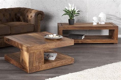table basse bois exotique massif wraste