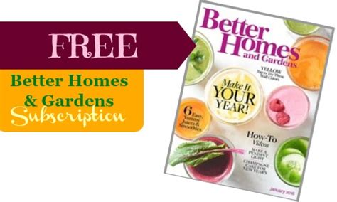 Better Homes And Gardens Magazine Subscription free better homes and gardens magazine subscription