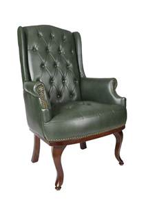 Back Chair Uk by High Back Fireside Green Leather Chair Fc Hbl Gr 163 225
