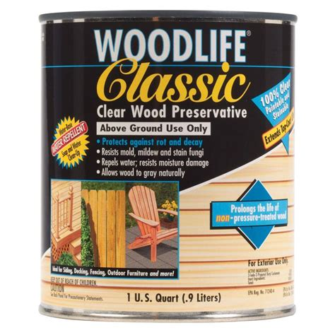 wolman 1 qt classic clear above ground wood preservative