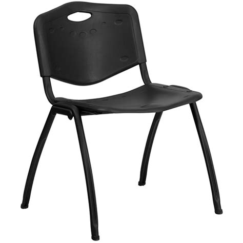 hercules series 880 lb capacity black polypropylene stack chair millennium seating usa