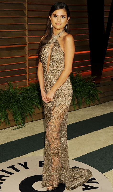 selena gomez at vanity fair oscar in