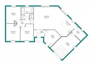 plan de maison plein pied en v