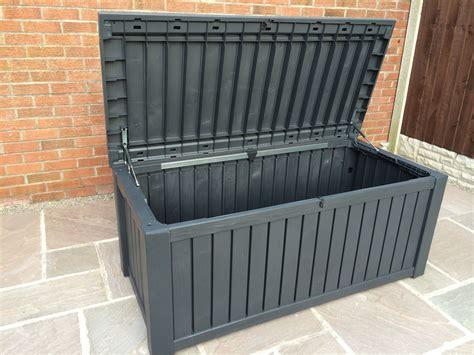 keter rockwood anthracite plastic garden storage deck box