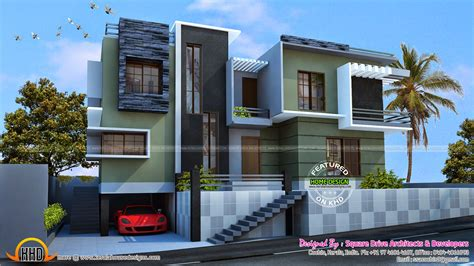 Modern Duplex House Kerala Home Design Floor Plans House